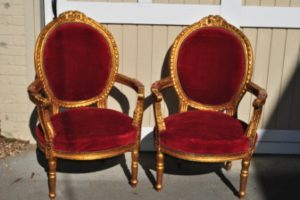 Gilded French Chairs