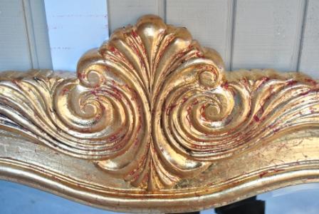 gold leaf on wood mirror