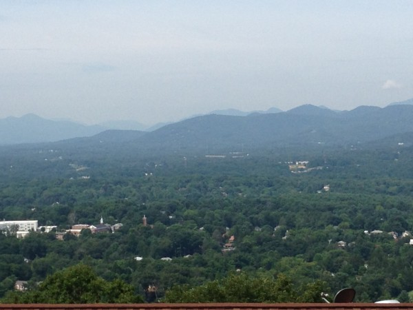 long range mountain view