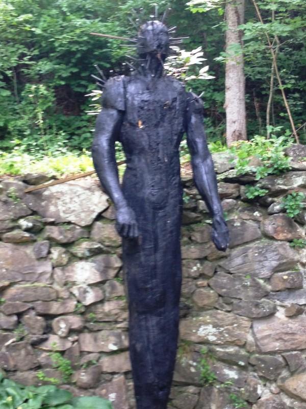 charred wood outdoor art