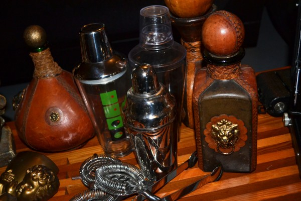 Form & Function believes in a well-stocked bar, including these fine Florentine leather bottles...say that five times fast