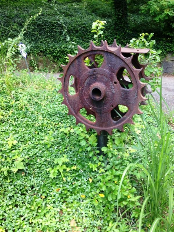 reclaimed yard art