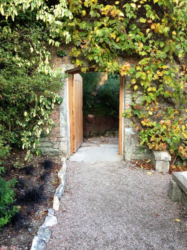 door to the kitchen garden