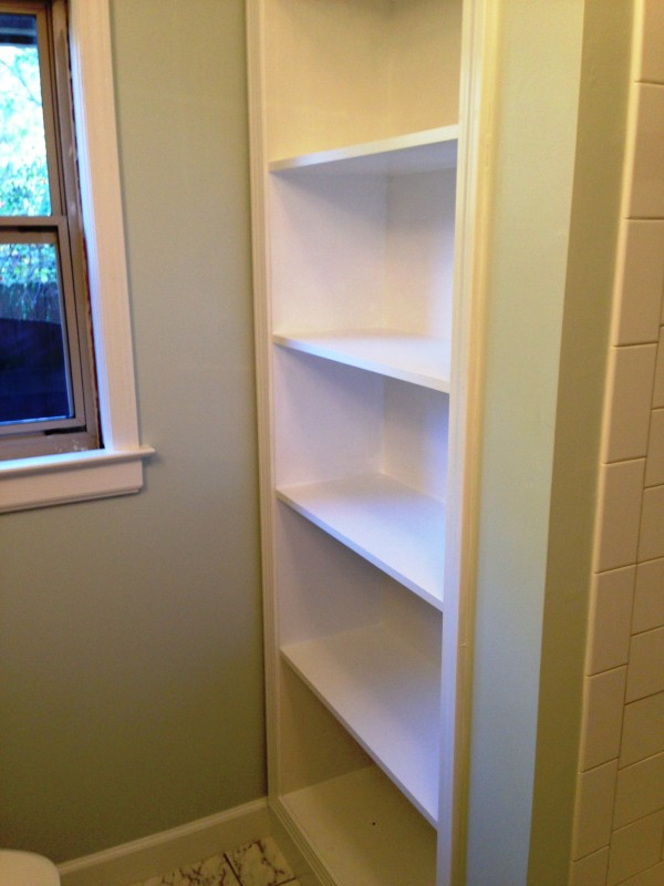 beautiful shelves built by my talented contractor