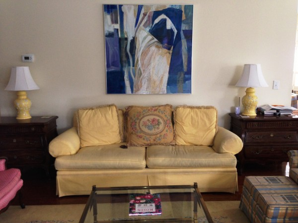 Modern art works in this vignette, as my artist Uncle who gave my mother the painting knew it would!