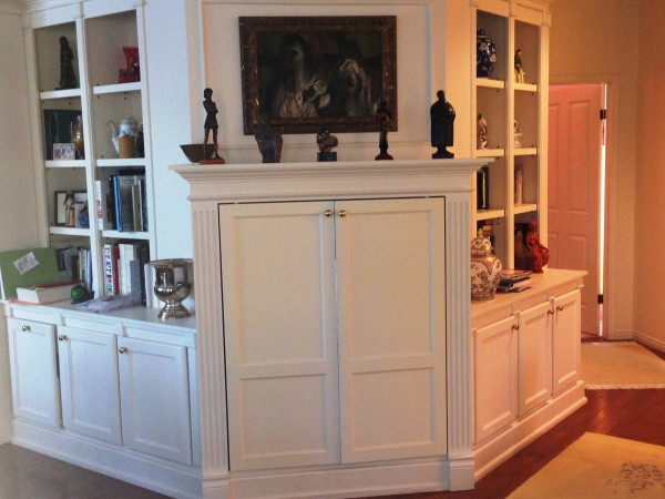 Built-in Living Room Bookcases