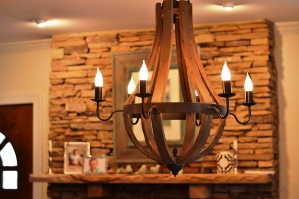 Raleigh interior design, light fixture