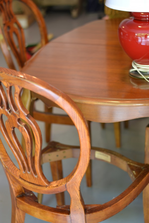Raleigh interior design, french dining table