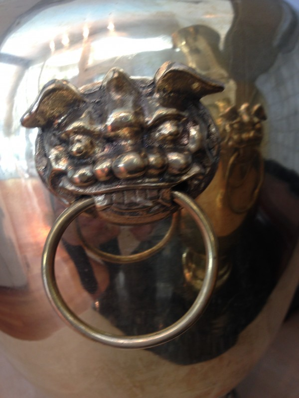 Brass Urn Handle Detail