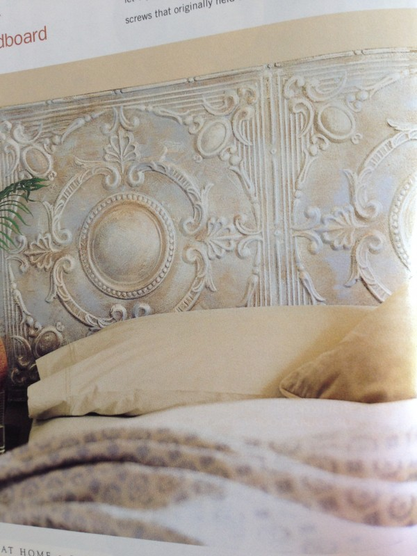 Headboard design ideas old tin ceiling tiles