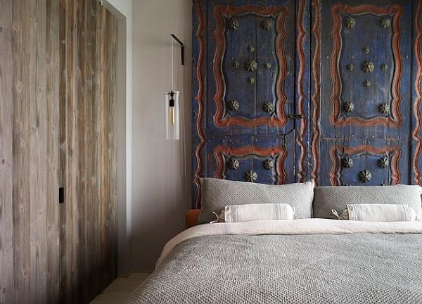Moroccan door headboard