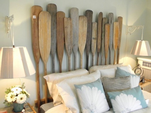old oar headboard