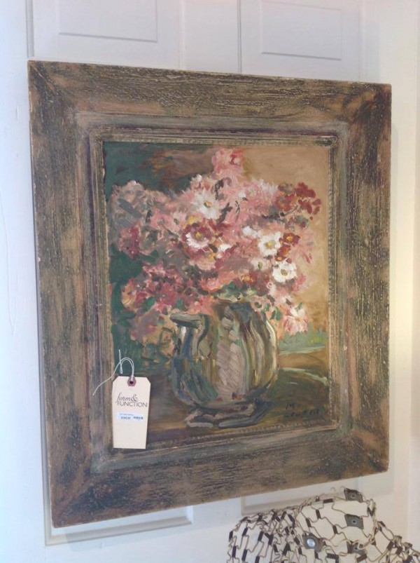 the french girl loves her art including this soft floral oil painting