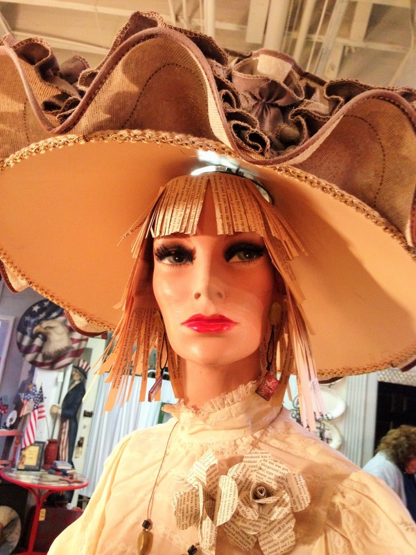 ...love the fringe beneath the incredible hat...