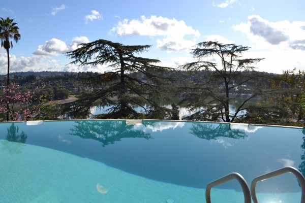 pool with view of silverlake reservoir