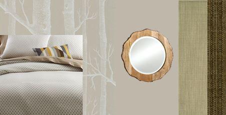 rustic woods gray green bedroom interior design raleigh design sneak peek