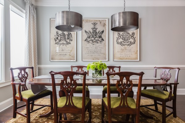 Raleigh Interior Design, dining room.