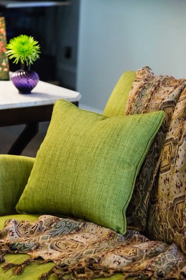 chartreuse couch traditional modern decor