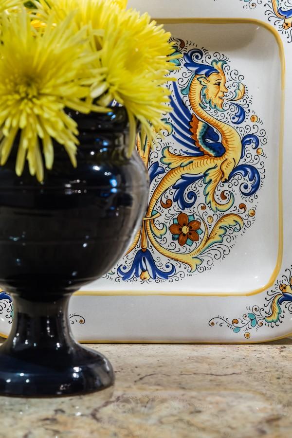 Italian ceramics Mediterranean kitchen