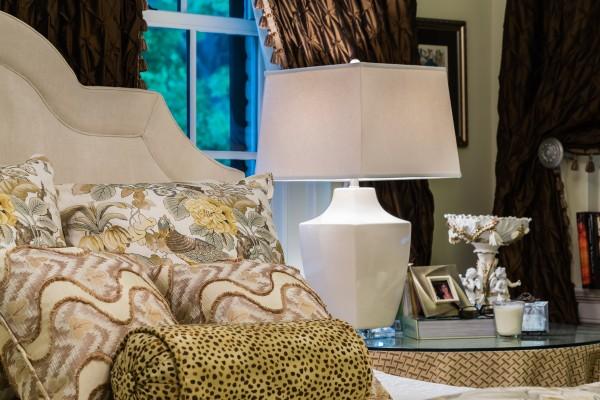 Raleigh interior design, master bedroom.