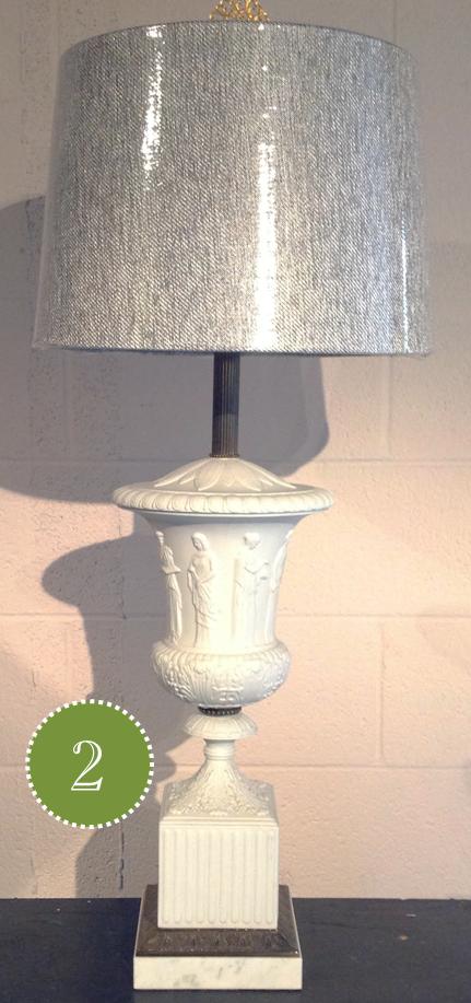 gray lampshade white lamp choosing the right lampshade