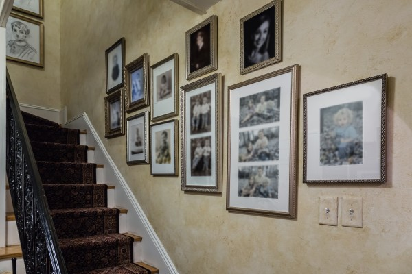 Staircase Family Portrait Wall