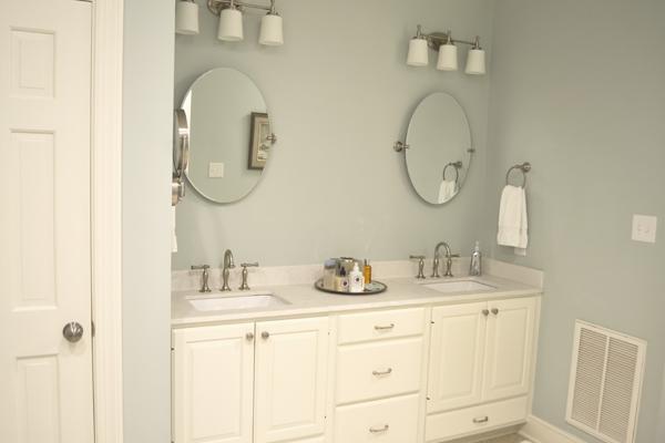 Master Bath Double Vanity Brushed Nickel Form Function