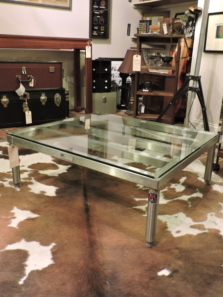John Boos Stainless Steel Pallet Coffee Table Form