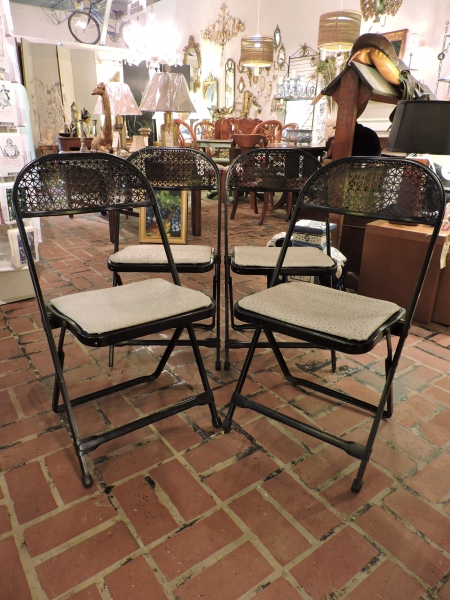 Faux Ostrich Folding Chairs