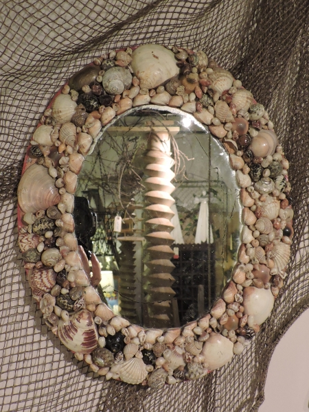 Small Oval Shell Mirror