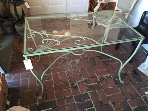 dd92cc415ef6 Vintage Wrought Iron Glass Top Table - Form   Function