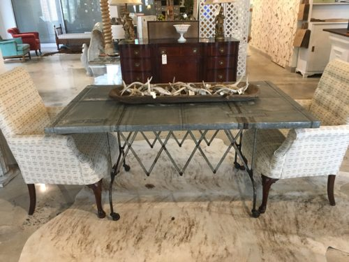 Galvanized Flower Cart Table Form Amp Function