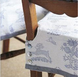 Slipcovered Dining Chair with Skirt