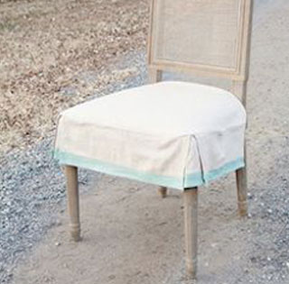 Slipcovered Dining Room Chair with Button Detail