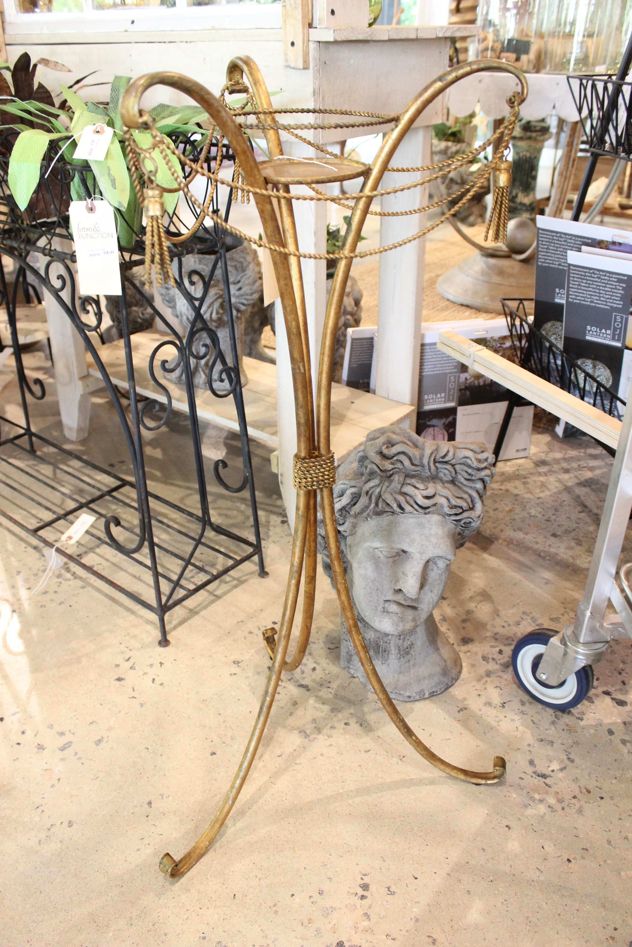 Italian Gold Plant Stand