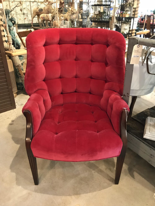 Delicieux Red Tufted Chair