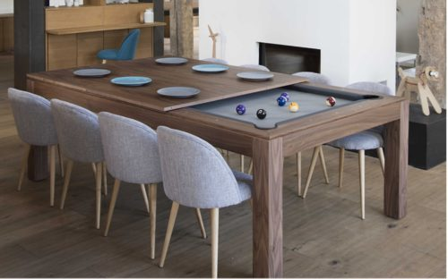 Multi Functional Furniture Convertible Dining and Pool Table