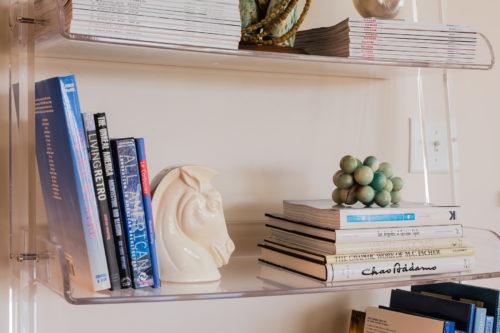 Wisteria Acrylic Leaning Bookshelf Styling