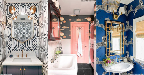 Statement wallpapers in bathrooms