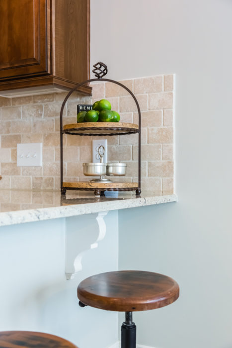 kitchen granite counter top peninsula bar stools