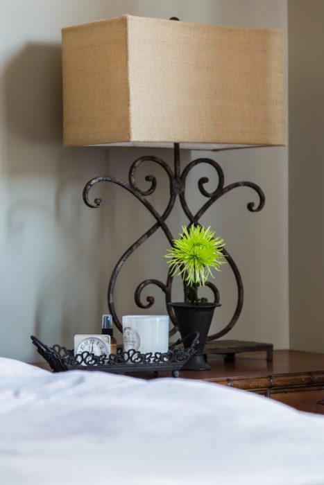 Iron lamp nightstand mood lighting
