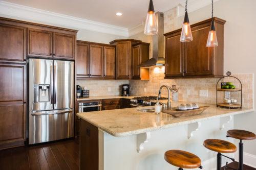 rustic modern kitchen grey beige colors