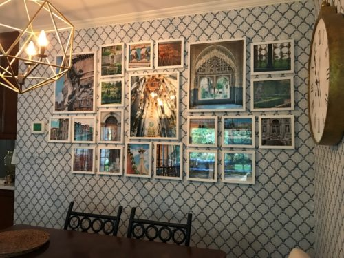 How to hang art gallery wall style