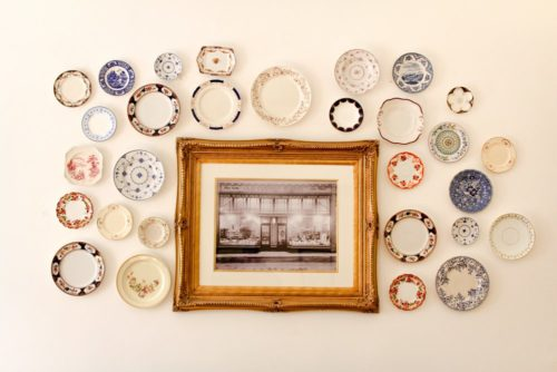 plate collection wall art white painted walls