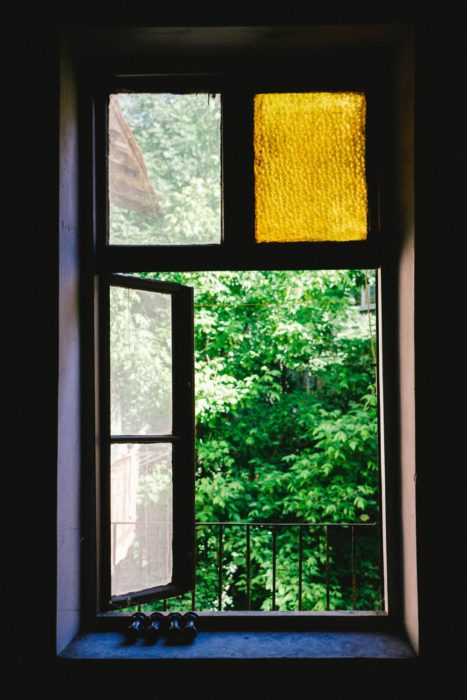 Open window spring cleaning tip
