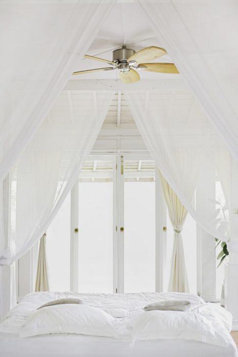 Light white sheer drapes summer decorating ideas