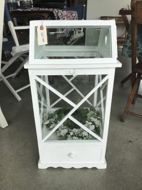 White Shabby Chic Terrarium