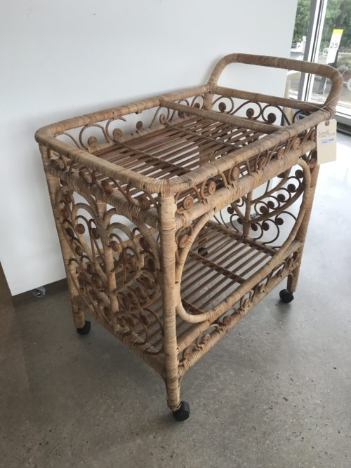 Wicker Heart Cart