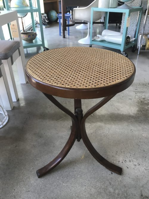 Cane Top Side Table