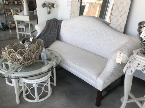 White Camelback Sofa